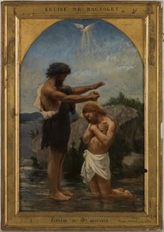 Esquisse pour l'église de Bagnolet : Baptème du Christ