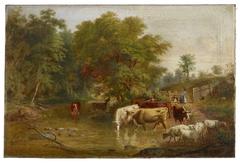 Farm Landscape Scene