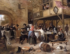 Feast of the Chamber of Rhetoricians near a Town-Gate