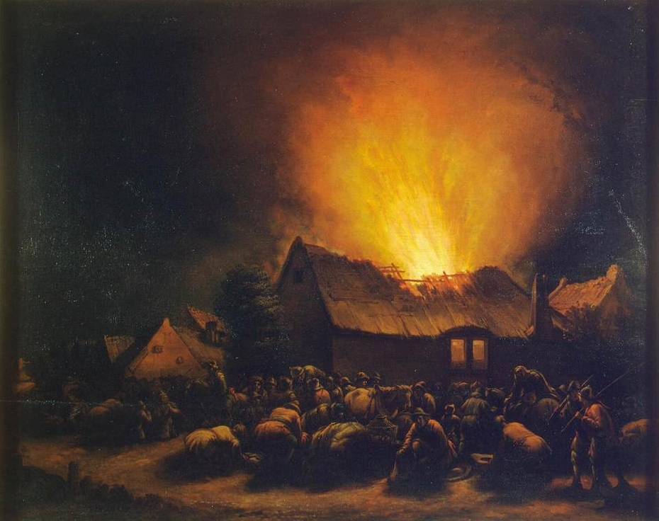Fire in a Village