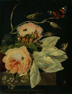 Flower piece with butterflies