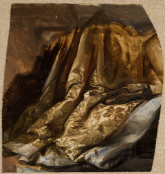 """Fragment of the Cover of Quinn's Bed. Study to the Painting """"The Death of Barbara Radziwiłł"""""""