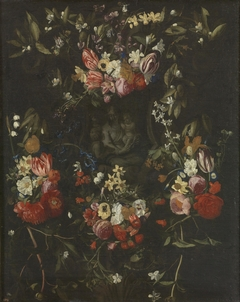 Garland of Flowers with the Virgin, the Christ Child and Saint John