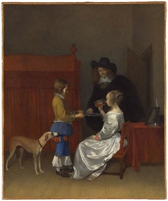 Gentleman offering a glass of wine to a lady