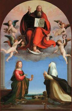 God the Father with Sts Catherine of Siena and Mary Magdalen