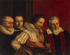 Group Portrait of Four Members of the Paris Council (fragment of the lost painting)