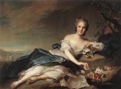 Henriette of France as Flora