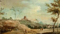 Hilly Landscape with a Ruined Tower