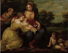 Holy Family with St Catharine and Young John the Baptist