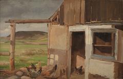 Hus med hønsegård