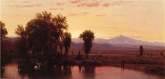 Indians Crossing the Platte River