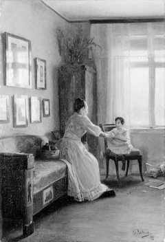 Interior with the Artist's Wife and Child