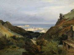 Italian landscape with a view of a harbour