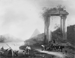 Italian Landscape with Classical Ruins