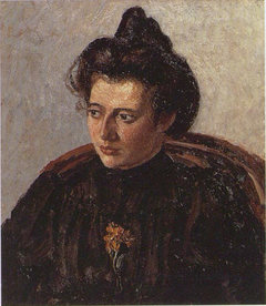 Jeanne Pissarro dite Cocotte, au chignon