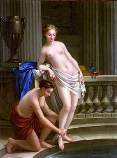 Jeune fille grecque au bain