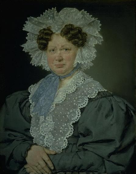 Kammerherreinde Kirsten Stampe f. Kaas (1766-1842) gift 1793 med kammerherre, Holger Baron Stampe til Nysø