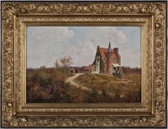 Kasteel 'Hoog Moersbergen' (nabij Doorn) van dr. Elie van Rijckevorsel (1845-1928)