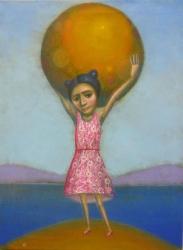 κορίτσι με μεγάλη μπάλα