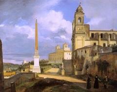 La Trinité-des-Monts et la villa Médicis, à Rome - François Marius Granet - RF 1981-12
