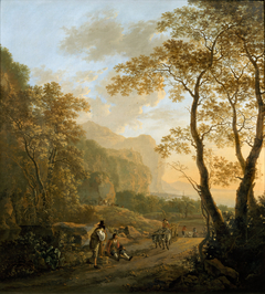 Landscape with Resting Travellers and Ox-cart