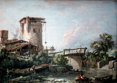 Landscape with Tower and Bridge