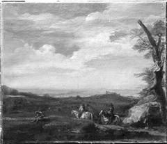 Landschaft mit Reitern