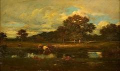 Landschap met koeien bij een waterplas (La mare)