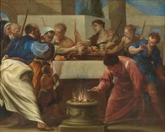 Los israelitas celebrando la Pascua