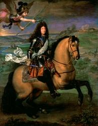 Louis XIV à cheval couronné par la Victoire devant le siège de Namur