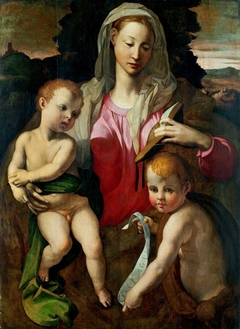 Madonna and Child with St. John the Baptist.
