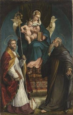 Madonna mit den hll. Martinus und Antonius Eremita