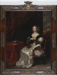 Margaretha von Elverich, genaamd Haes (overl.1678). Echtgenote van 1) Daniel Weyman; 2) Matthias Romswinckel