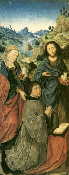 Mary Magdalene, Saint John the Baptist and a Donor