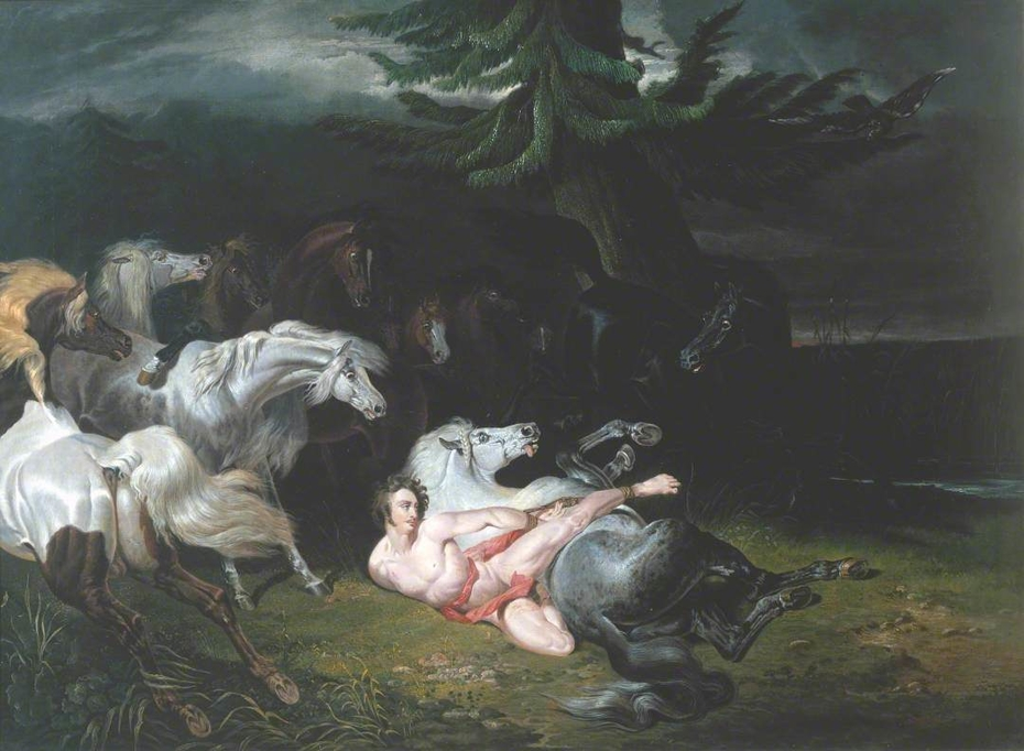 Mazeppa Surrounded by Horses (after Horace Vernet)