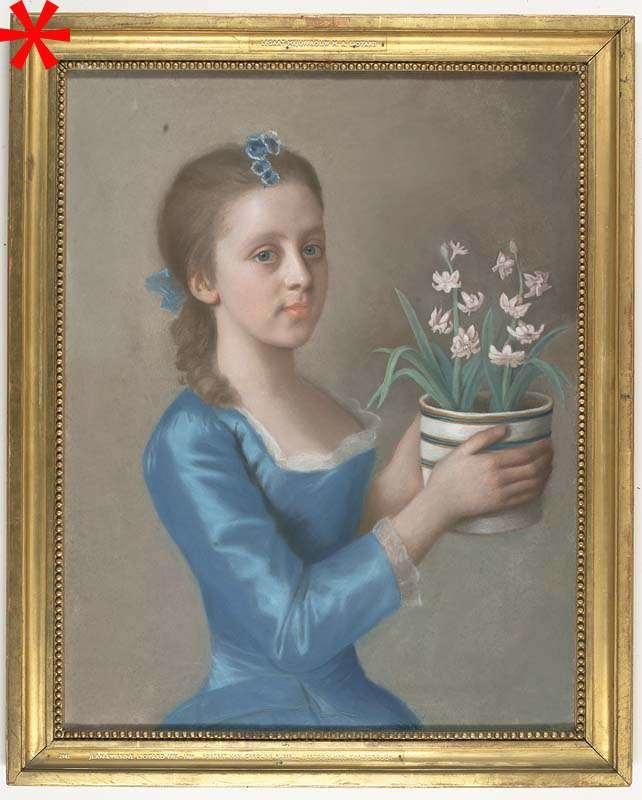 Meisje met een bloempot met hyacinten (mogelijk een portret van Lady Caroline Russell, de latere hertogin van Marlborough)