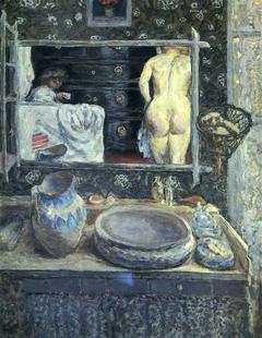 Mirror above a Washstand