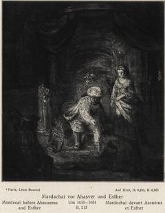 Mordecai before Ahasuerus and Esther