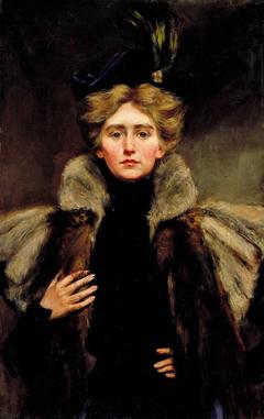 Natalie in Fur Cape
