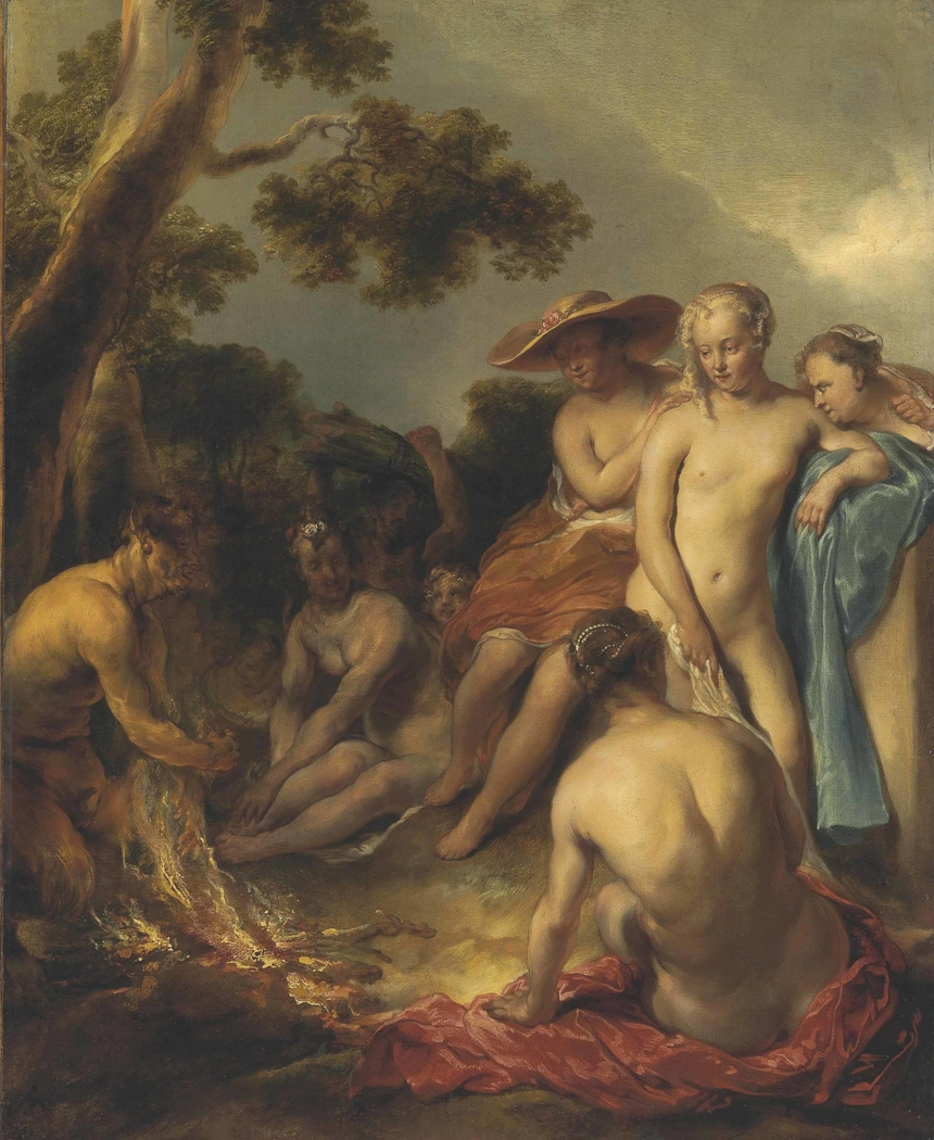 Nymphs and a Satyr
