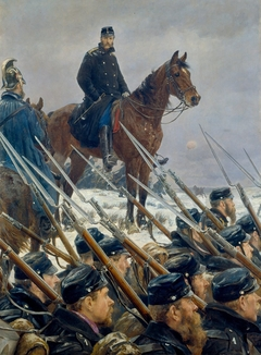 Oberst Max Müller am Sankelmarksee am 6. Februar 1864