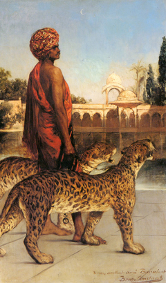 Palace Guard with Two Leopards