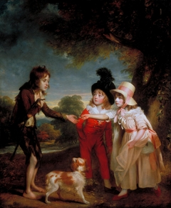 Portrait of Sir Francis Ford's Children Giving a Coin to a Beggar Boy