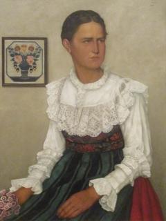 Portrait of young Alsatian girl