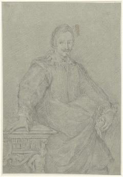 Portret van een onbekende staande man