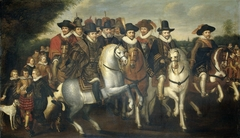 Prince Maurice Accompanied by his two Brothers, Frederick V, Elector Palatine, and Counts of Nassau on Horseback