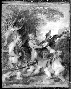 Putti with the Accoutrements of Mars