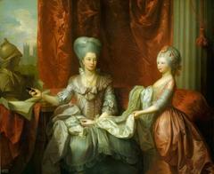 Queen Charlotte (1744-1818) with Charlotte, Princess Royal (1766-1828)