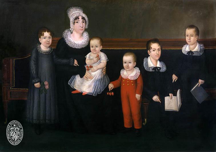 Rebecca Myring Everette (Mrs. Thomas Everette) and her Children