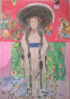 reproducing Klimt's masterpiece